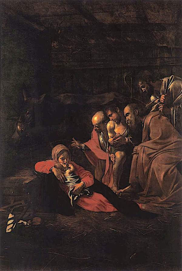The Adoration of the Shepherds, 1609 by Caravaggio