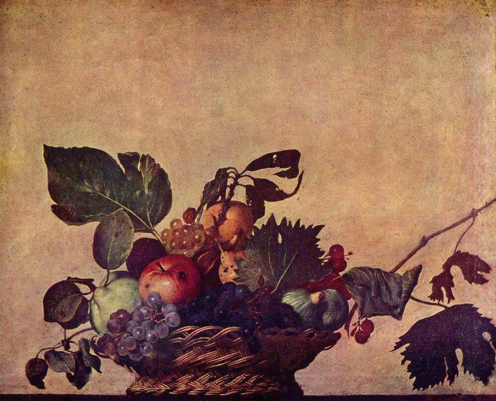 Basket of Fruit, 1596 by Caravaggio