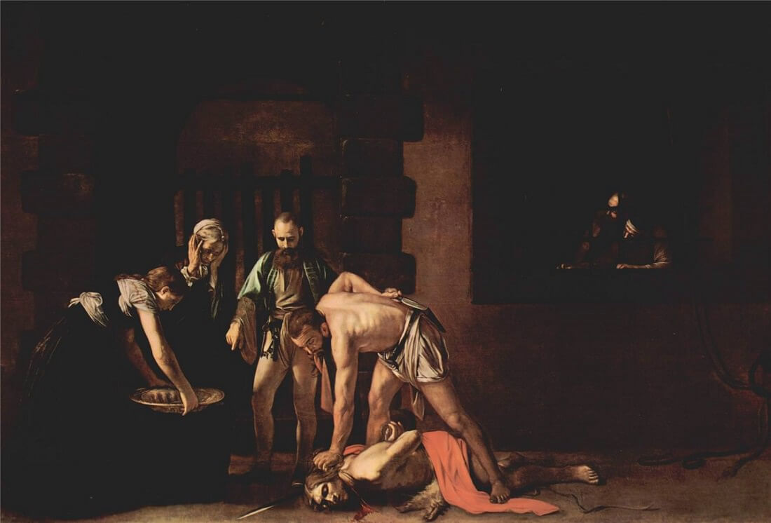 Beheading of saint john the baptist 1608 - by Caravaggio