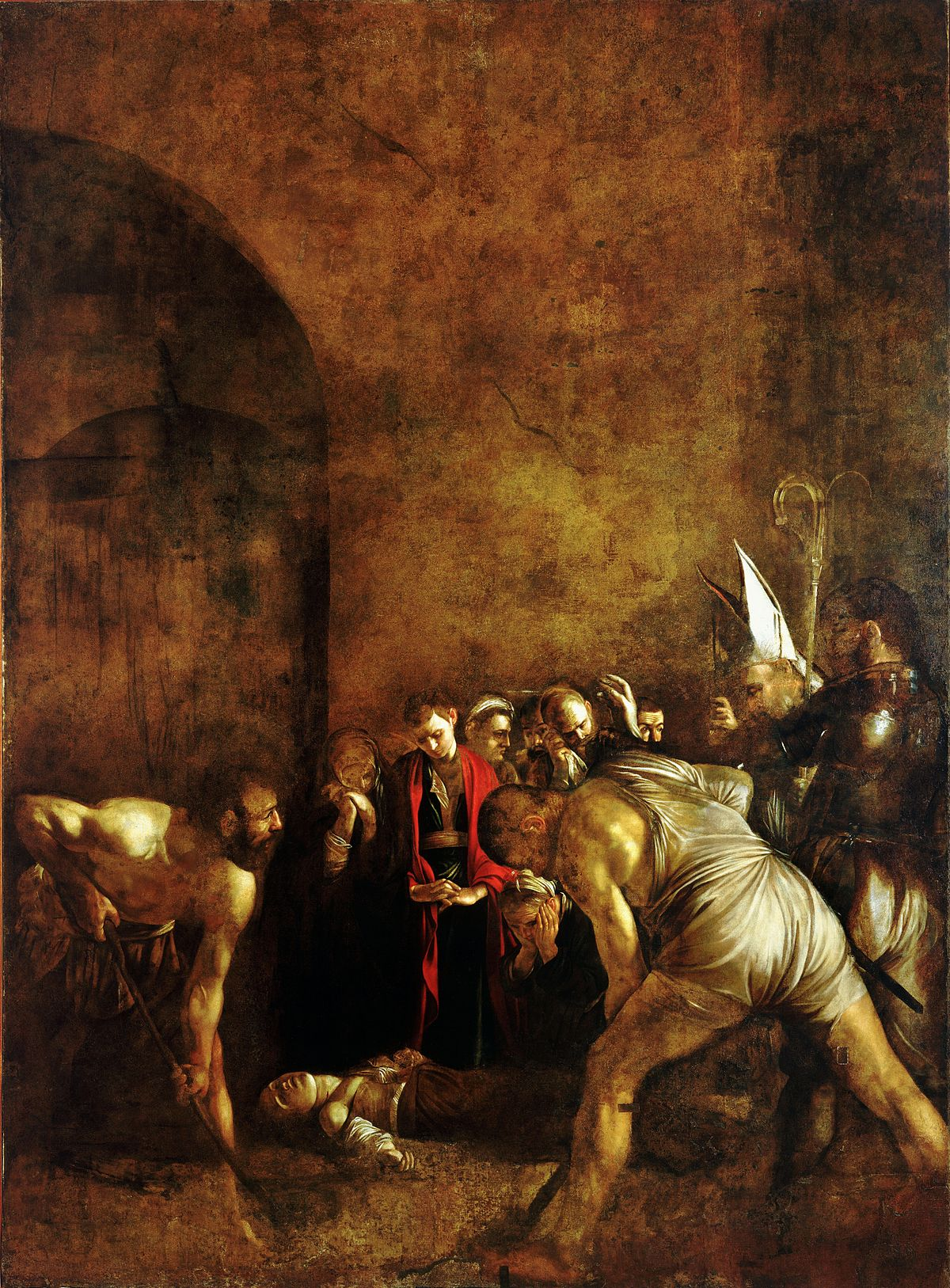 Burial of saint lucy 1608 - by Caravaggio