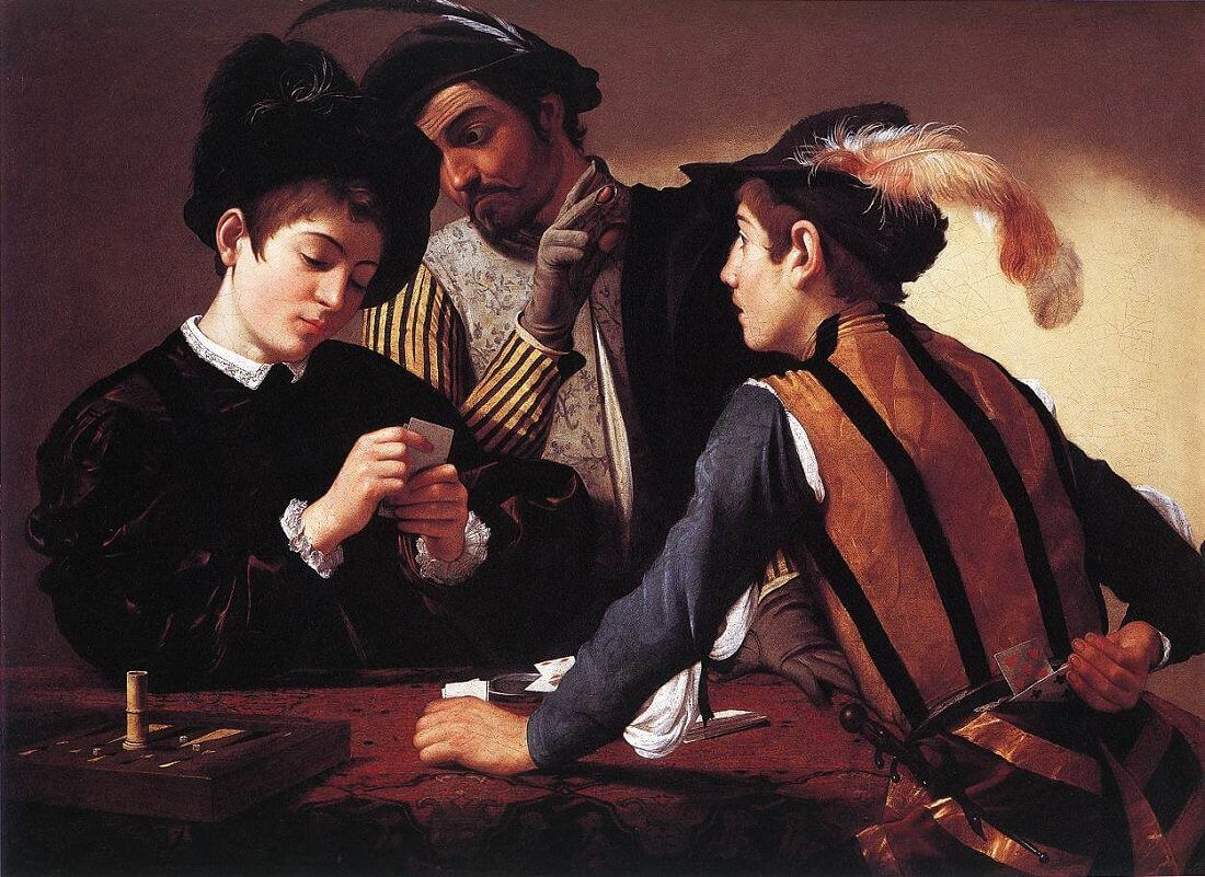 The Cardsharps, 1594 by Caravaggio