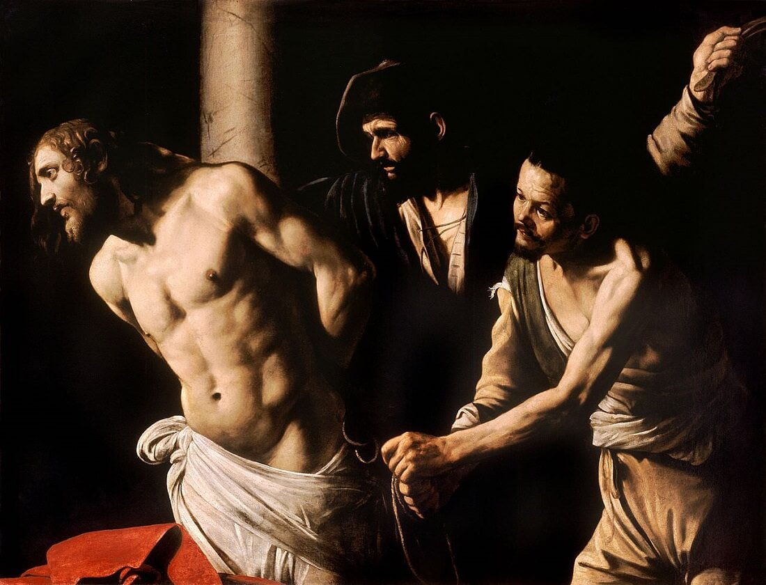 Christ at the Column, 1607 by Caravaggio