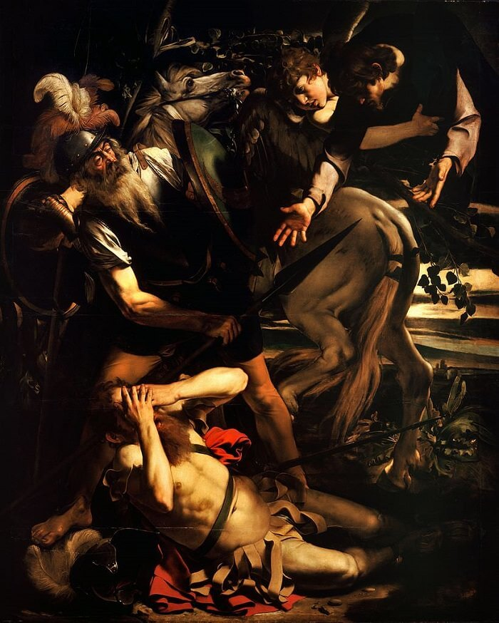 The Conversion of Saint Paul, 1600 by Caravaggio