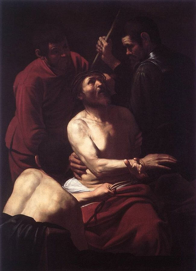 Crowning with thorns 1603 - by Caravaggio