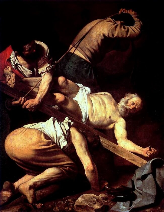 The Crucifixion of Saint Peter, 1601 by Caravaggio