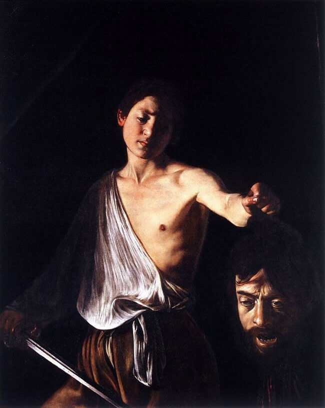 David with the Head of Goliath, 1610 by Caravaggio