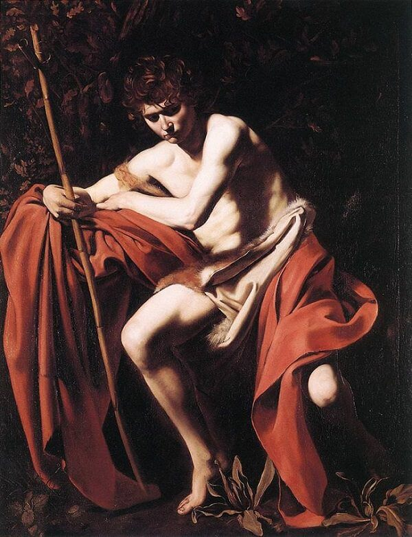 John the baptist 1604 - by Caravaggio