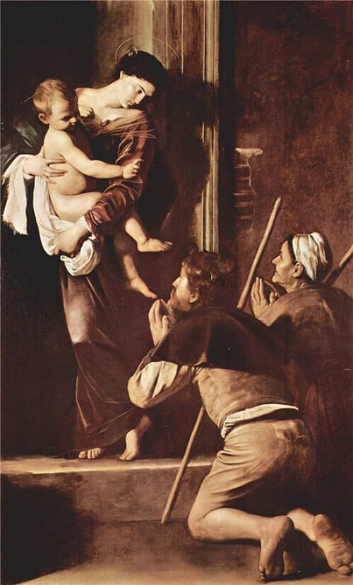 The Madonna of the Grooms, 1605 by Caravaggio