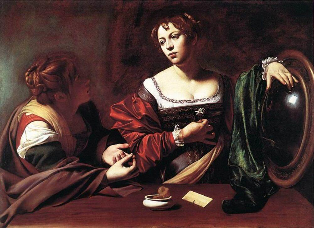 Martha and mary magdalene 1598 - by Caravaggio