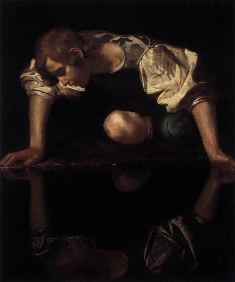 Narcissus, 1599 by Caravaggio