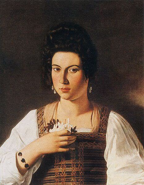 Portrait of a courtesan 1597 - by Caravaggio