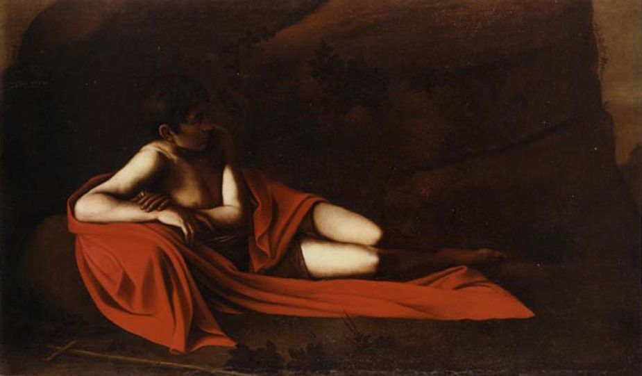 Reclining Baptist, 1610 by Caravaggio