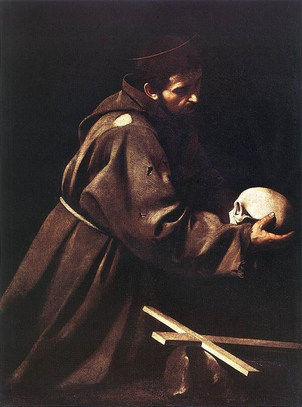 Saint francis in prayer 1610 - by Caravaggio