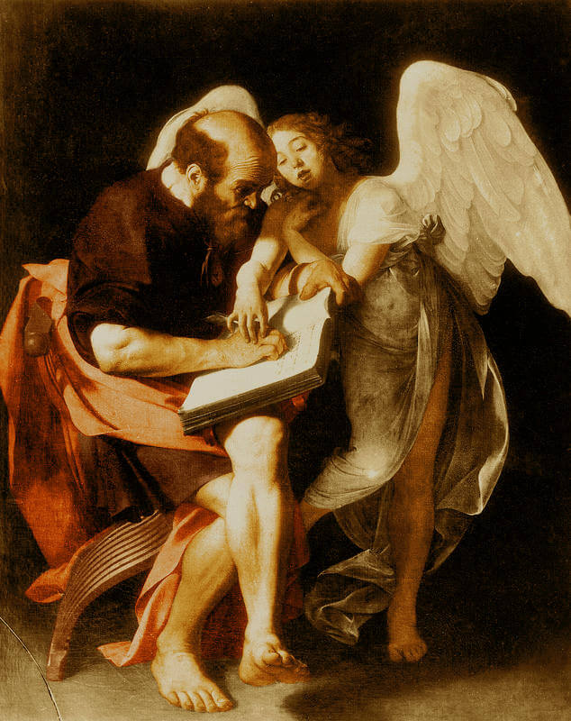 Saint Matthew and the Angel 1602 - by Caravaggio