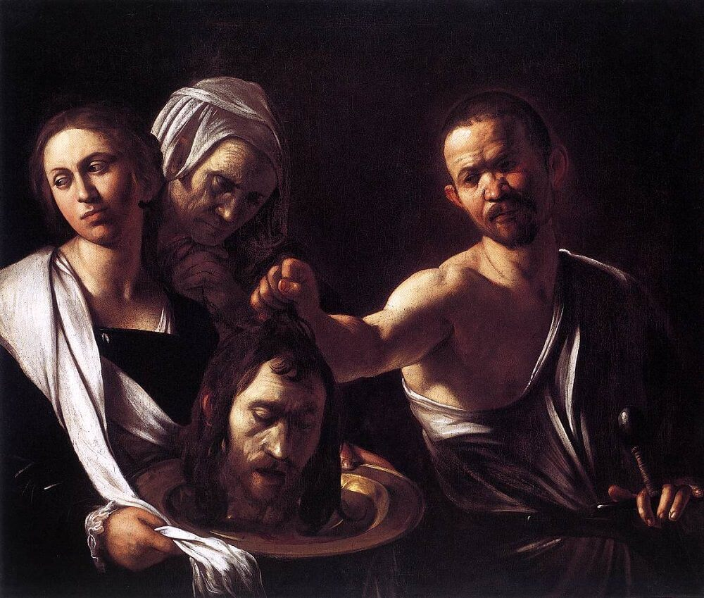 Salome with the Head of John the Baptist, 1607 by Caravaggio