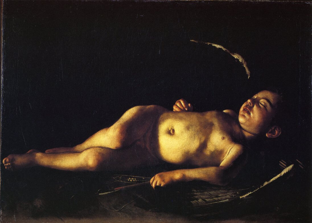 Sleeping cupid 1608 - by Caravaggio