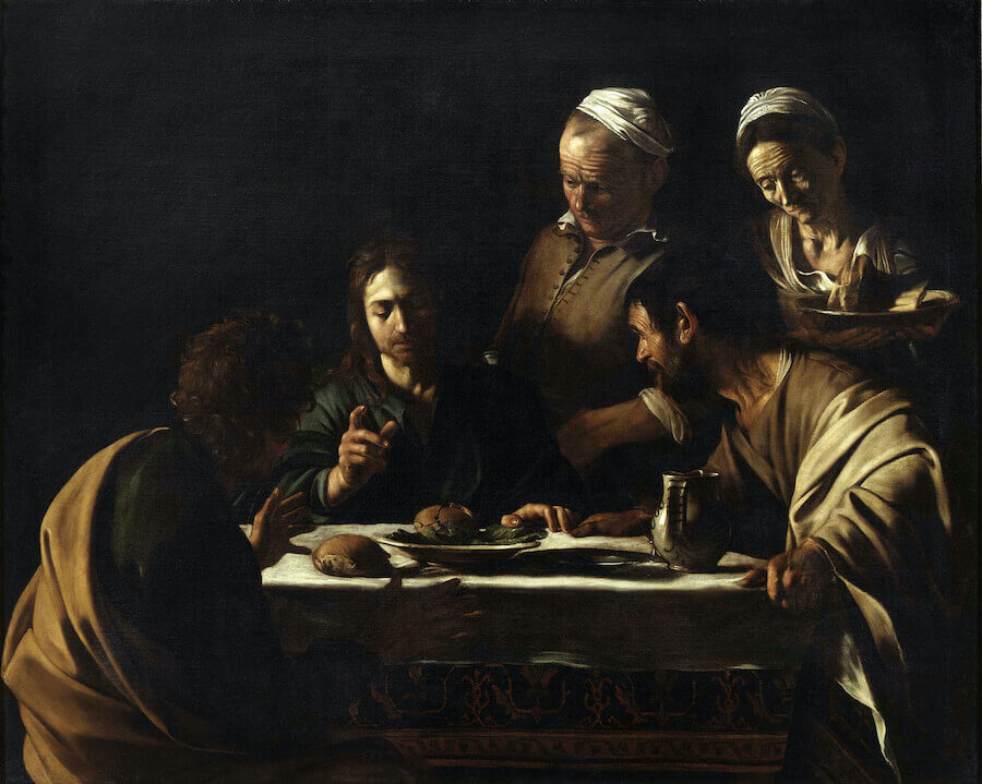Supper at emmaus 1606 - by Caravaggio