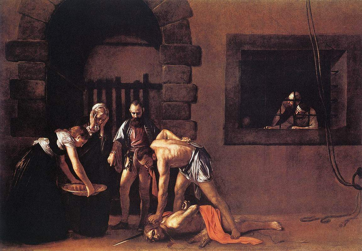 The Decapitation of Saint John the Baptist, 1607 by Caravaggio