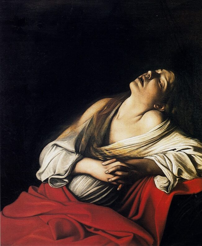The magdalen in ecstacy- by Caravaggio