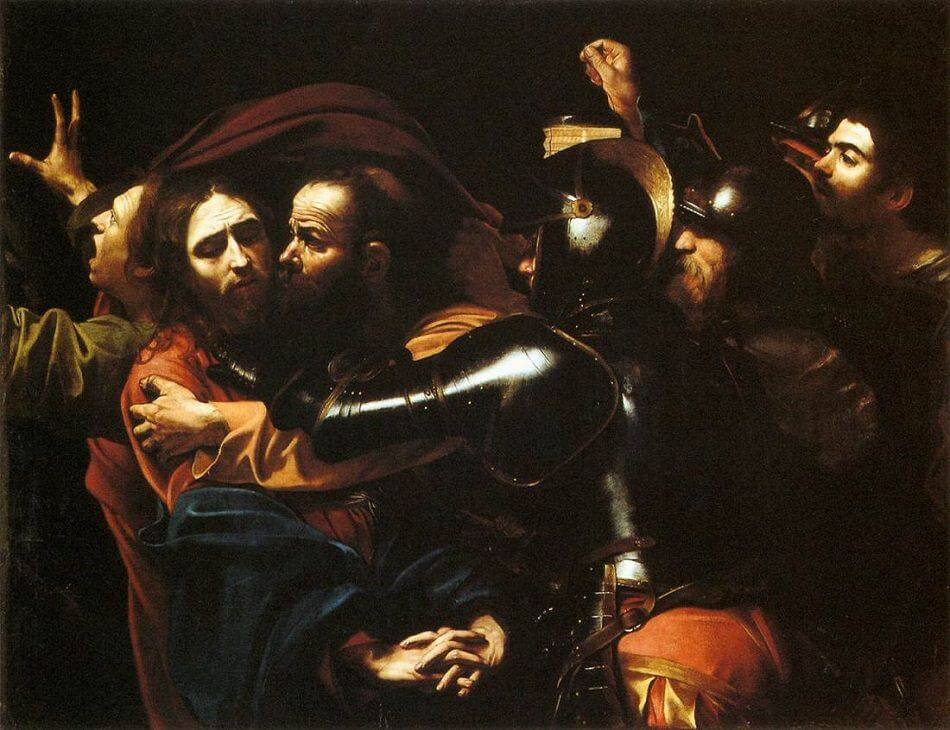 The Taking of Christ, 1602 by Caravaggio