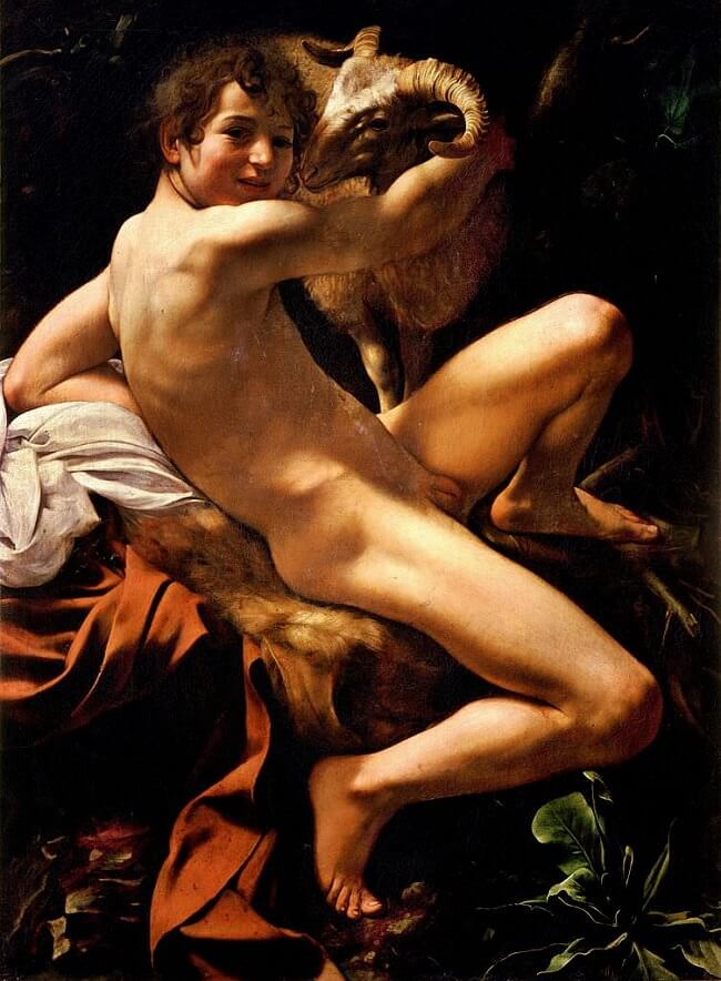 Youth with a Ram, 1602 by Caravaggio