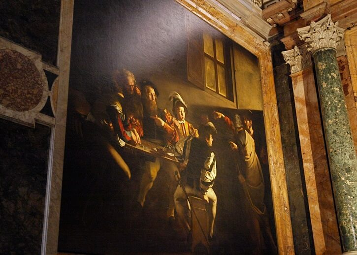 The Calling of Saint Mathew, 1600 by Caravaggio